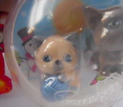 Puppy In My Pocket Kitty COCO LALA Himalayan Cat Christmas Holiday Ball Ornament - $8.99