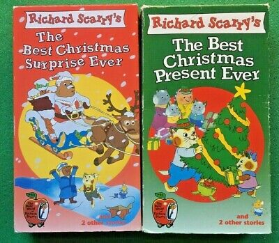 Scarry Best Christmas Surprise Ever + Best Christmas Present Ever 2VHS +FREE