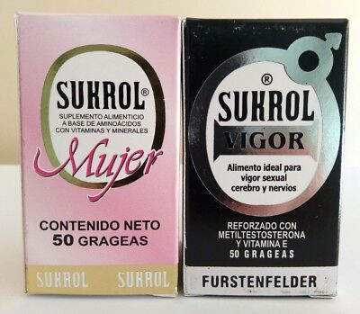 SET SUKROL VIGOR DIETARY SUPPLEMENT MAN & WOMAN COMBO SUKROL HOMBRE & MUJER