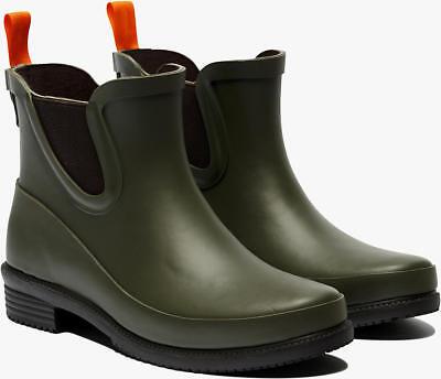 SWIMS Women's Dora Waterproof Low Rubber Rain Boots Shoes Hunter Green Size 7 US - Boot Dora