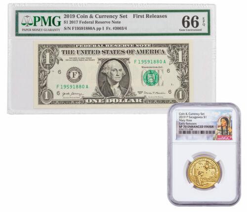 2019 Native American Coin & Currency Set $1 NGC + PMG SP70 & 66 ER/FR SKU59057