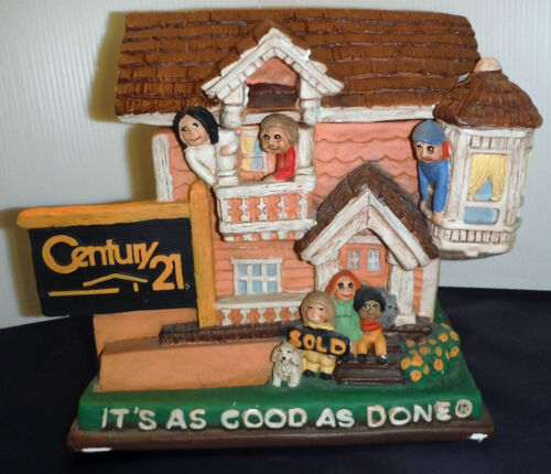 !RARE!    CENTURY 21 Real Estate Hand Painted Cookie Jar.  ! RARE !  1994