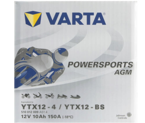 VARTA Powersports 12V 10 Ah YTX12-BS AGM Motorrad Batterie 10Ah OVP  YAMAHA