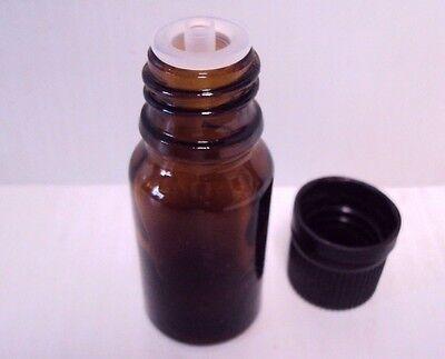 12 Lisse Essentials 10 Ml Amber Glass Essential Oil Bottle Worifice Reducercap