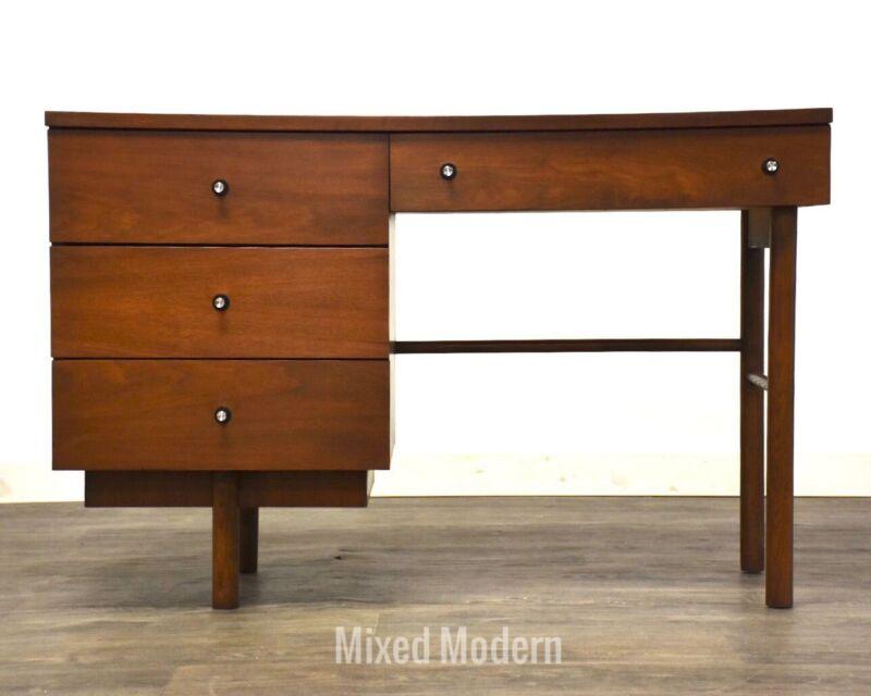 Walnut Mid Century Modern Desk by Stanley