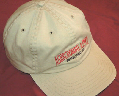 Rare Vtg ABERCROMBIE & FITCH Baseball Cap MADE IN USA Hat SPELLOUT Strapback