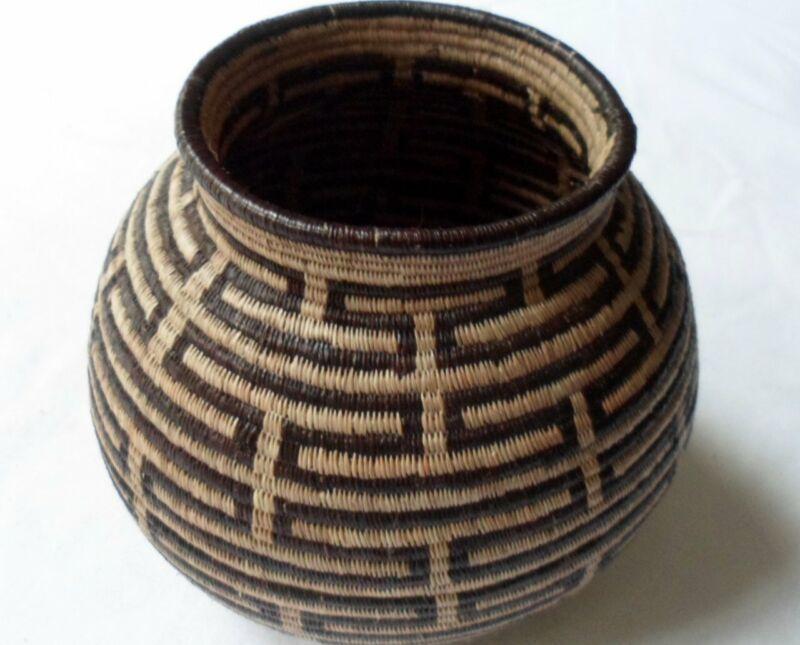 Wounaan Embera Woven Gorgeous Classic Design Basket-Panama 20081308mm