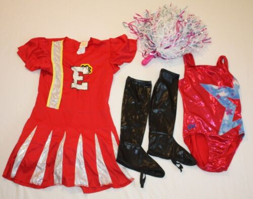 Girls 5 Pc Disney Cheerleader Dancer Halloween Pretend Fantasy Costumes 7/8