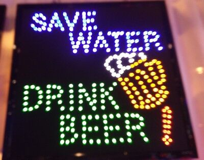 Save Water Drink Beer Neon Led Signbusiness Signshop Signbar Window Sign