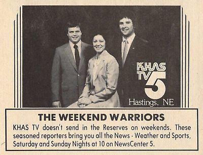 1982 Khas Hastings Nebraska Tv News Ad Weekend Warriors Channel 5 Weather Sports