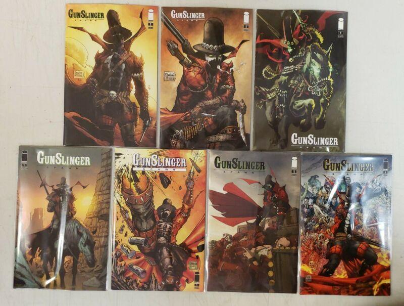 Lot of 7 Gunslinger Spawn #1 2021 IMAGE Main & Variant Cover Set McFarlane NM