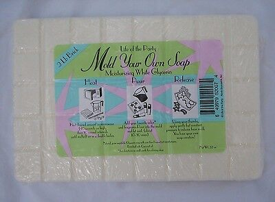 Lot of 2 Pkgs New Life Of The Party White Glycerin Soap 4 Lbs Mold your Own