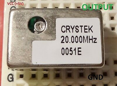 1 Pc. 20mhz Precision Oscillator Trimmable Ttl Compatible Full Size 5v