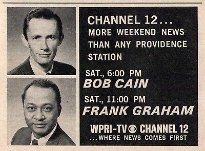 1969 Wpri Tv Ad Providence Rhode Island News Bob Cain   Frank Graham Chanel 12