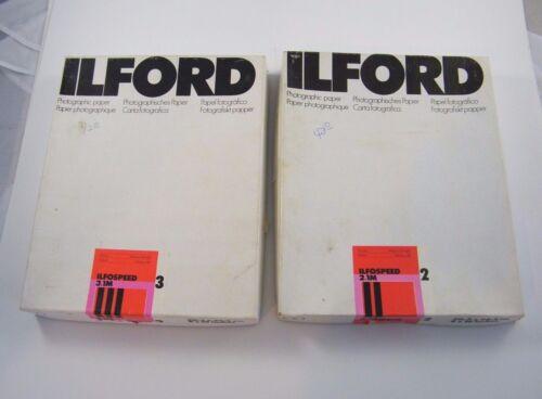 """ILFORD ILFOSPEED PHOTOGRAPHIC PAPER 3.1M & 2.1M 8X10"""" / 20,3 X 25,4 CM OPEN BOX"""