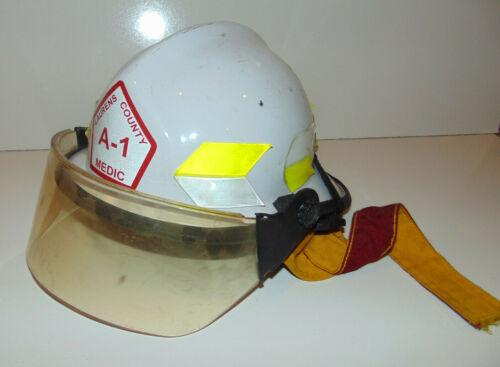 Vintage Super Chieftain Helmet Fire Dept Face Shield LAURENS Greenville SC White