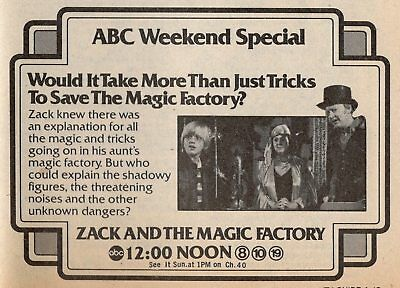 1981 TV AD~ZACK AND THE Bewitching FACTORY~OLIVIA BARASH~WILLIAM FLATLEY
