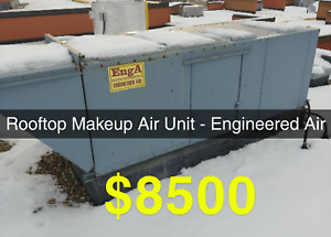 Engineered air rooftop mounted makeup air unit