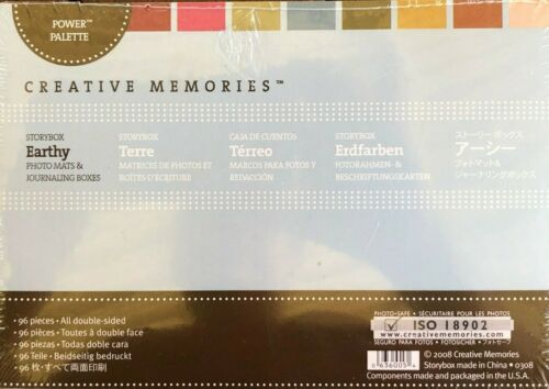 Creative Memories STORYBOX - EARTHY - PHOTO MATS & JOURNALING BOXES