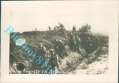 WW1 German Storm Troopers in Training 1918   7  x 5 inches pic 2