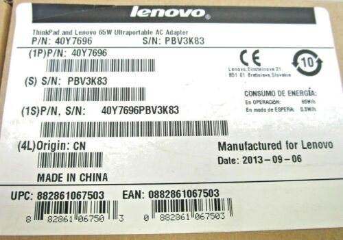 Lenovo 65 Watt Universal AC Adapter for Notebooks 40Y7696