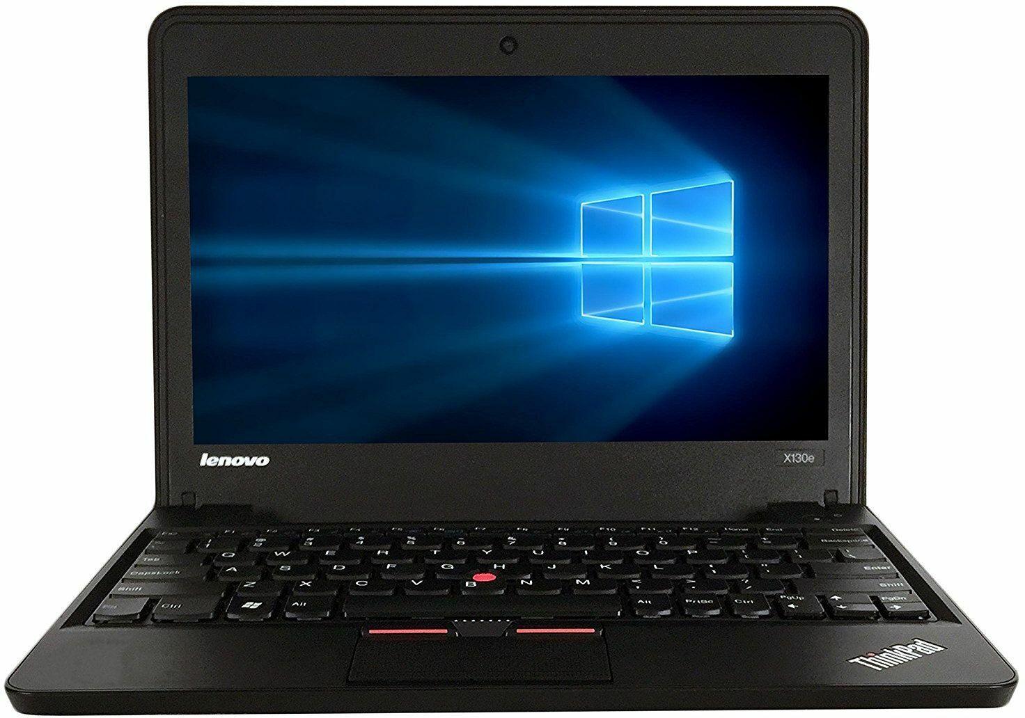 Laptop Windows - LENOVO X131E GLOSSY RED DUAL CORE 4gb 128gb SSD WEBCAM USB 3 WINDOWS 10 PRO
