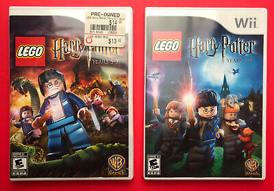 LEGO Harry Potter: Years 1-4 & Years 5-7 Games for Nintendo Wii/Wii U CIB