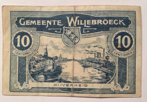 Gemeente Willebroeck 10 Cents  1918
