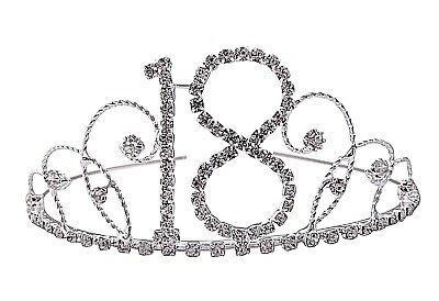 Simply Beautiful Finest Crystal Diamante 18th Birthday Tiara.  ](18th Birthday Tiara)