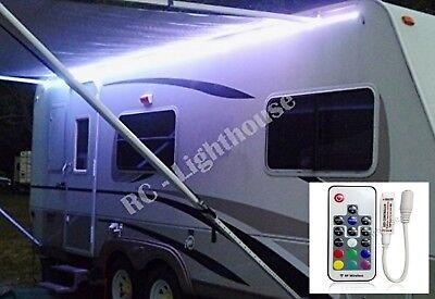 RV LED Awning Light Set -w/ RF Remote control 17 key RGB+W 14' 5050 Waterproof