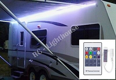 RV LED Awning Light Set w/ RF Remote control 20 key RGBW 12' ft 5050 Waterproof