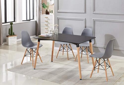 Lot de 4 chaises design tendance rétro eiffel bois chaise de