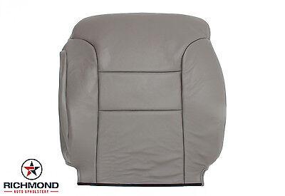 1997 Chevy Silverado K2500 C/K C2500 -Driver Lean Back Leather Seat Cover Gray