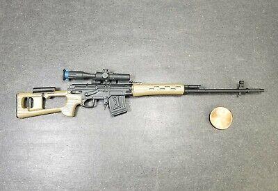 Light Blue Vintage 1986 Cobra G.I.Joe Accessory Dragunov Sniper Rifle SVD