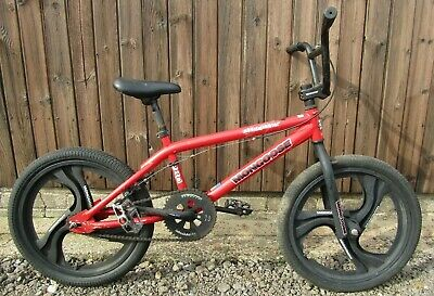 Mongoose Mischief Pro Red Mid School BMX Bike Bicycle Mag Wheels Freestyle Boys