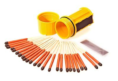 Uco Stormproof Match Kit  Yellow With 25 Windproof Waterproof Matches Camping