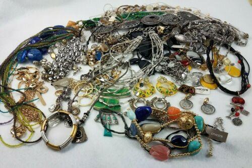 Huge Chicos Lot 32 Pieces Necklaces Bracelets Earrings Belt Some New