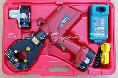 Burndy Pat81kft-18v Hydraulic Battery Operated 6t Dieless Crimper Crimping Tool
