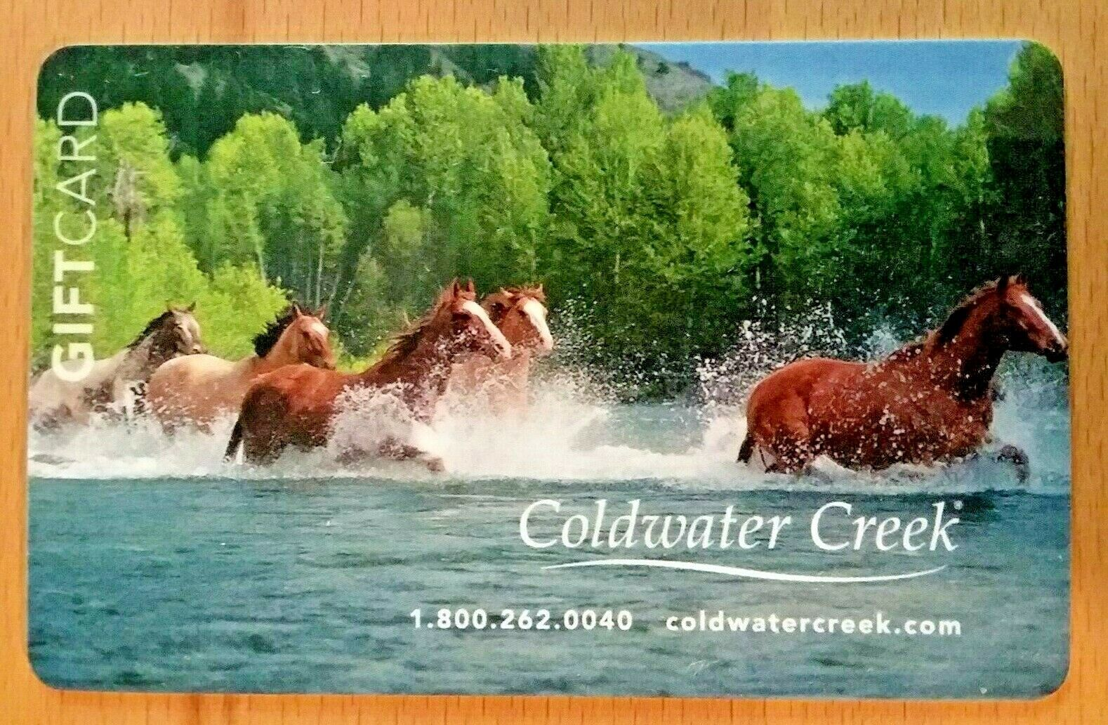COLDWATER CREEK HERD OF HORSES Gift Card No Value - $1.99