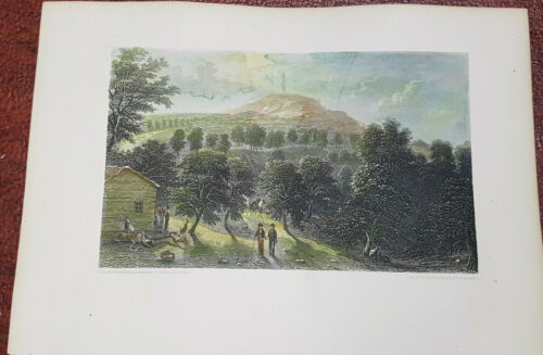 Handcoloured steel engraving 1854 View of rock Mountain by Smillie