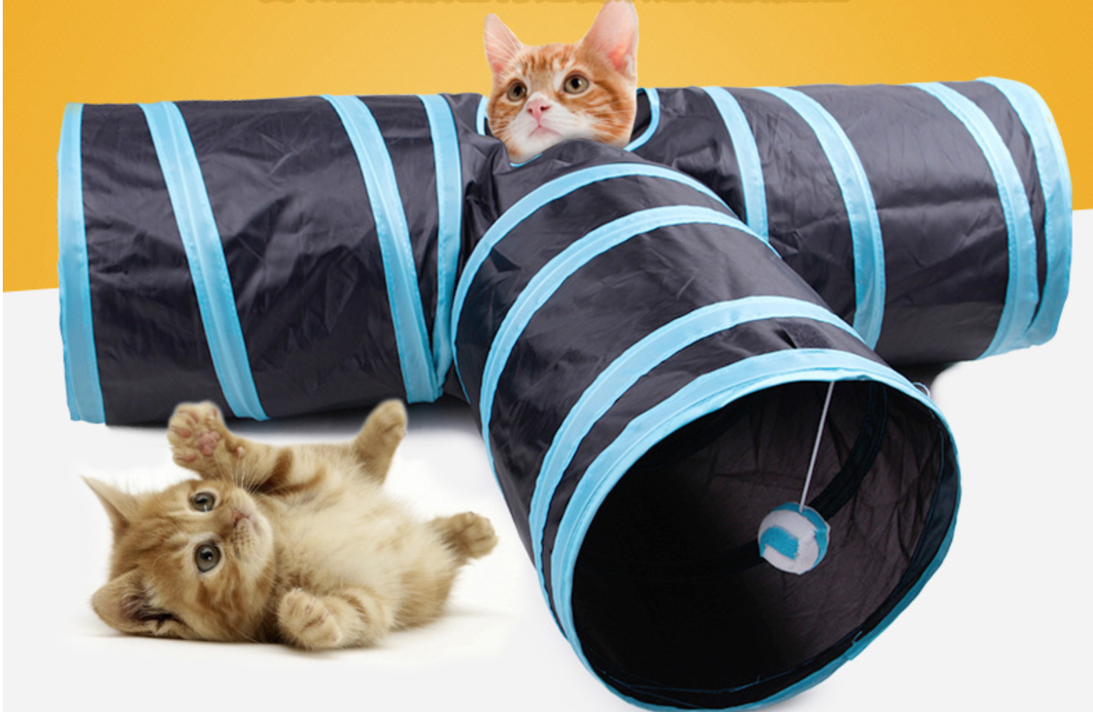 Best Inactive Foldable Tunnel Cat and Dog 3 Ways Play Pet Supplies Training Toys