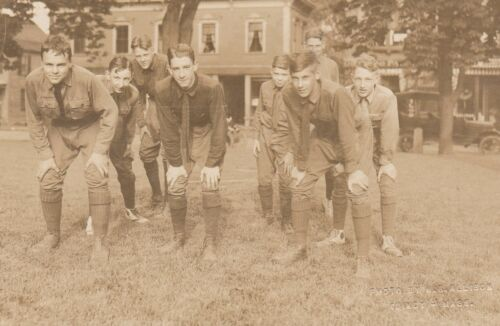BOY SCOUTS PHOTO BY H.B. ALLISON, QUINCY MASS.-RPPC-CIRCA 1908 DB REAL PHOTO
