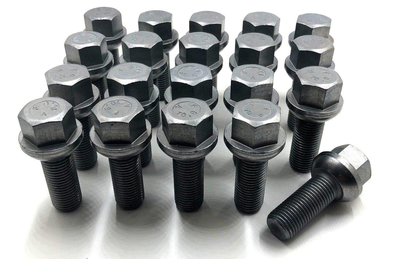 20 x Alloy Wheel Bolts Lugs M14 x 1.5 17mm Hex 45mm Thread Radius Seat Audi VW