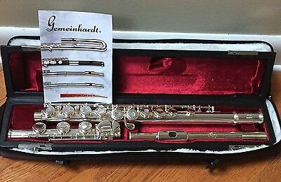 NEW GEMEINHARDT 30B SILVER OPEN HOLE B-FOOT FLUTE WITH OFFSET G 3OB