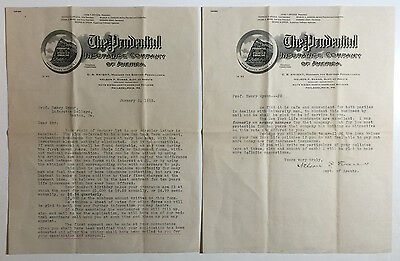 Vintage Letterheads  The Prudential Insurance Company Of America  Phila  Pa 1912