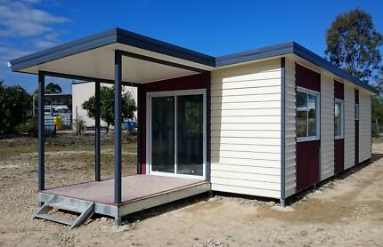 Relocatable 2 bedroom steel frame display home the 'Ayva Cabin'
