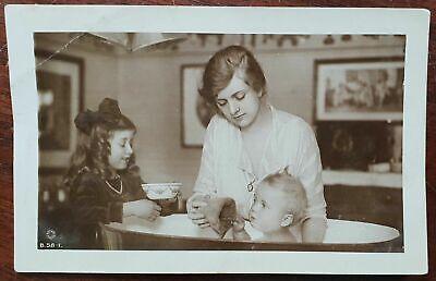 1916 Gladys Cooper, Joan & Baby John Postcard to Nevill Road, Stoke Newington (Joan Cooper)