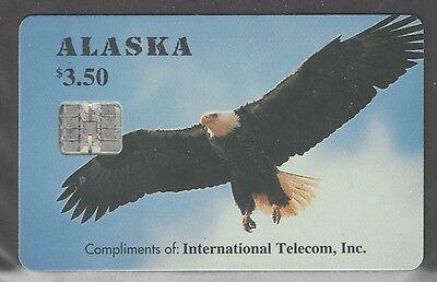 Alaska Scarce  $3.50 Eagle Complimentary Phonecard Mint