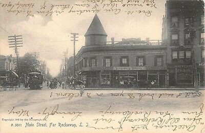 1905 Stores Main St. Far Rockaway NY post card (Queen St Stores)