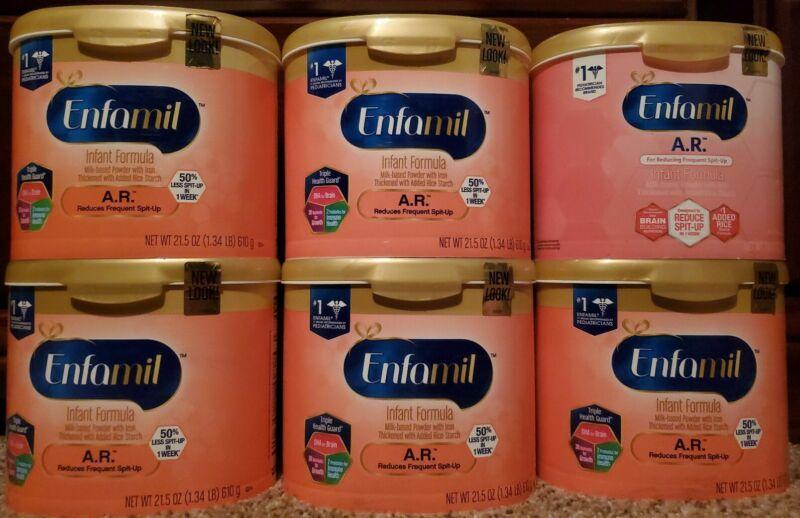 6 Tubs of Enfamil A.R.( 21.5 oz)